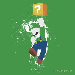 Luigi Paint Splatter