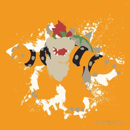 Bowser Splattery Vector
