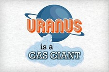 Uranus is a Gas Giant