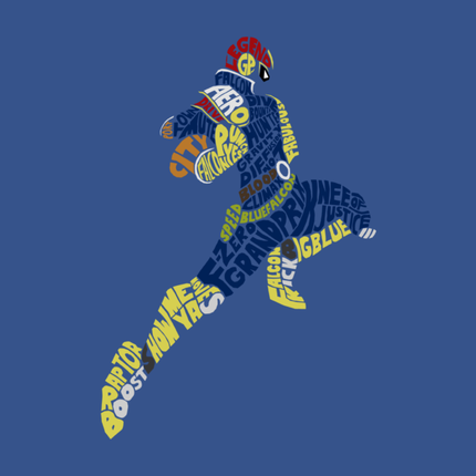 Captain Falcon Typography | Justice is Served