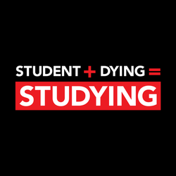 Equation for Studying: Student + Dying = Studying