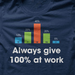 Always Give 100% At Work