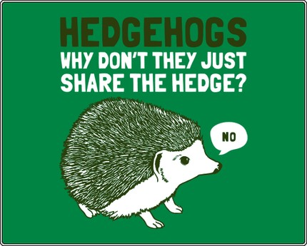 Hedgehogs - Why Don't They Just Share the Hedge?