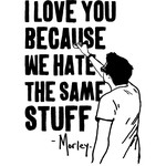 I Love You Because We Hate The Same Stuff