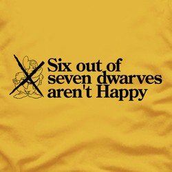 Six out of seven dwarves aren't Happy