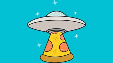 Kawaii Cute Pizza UFO