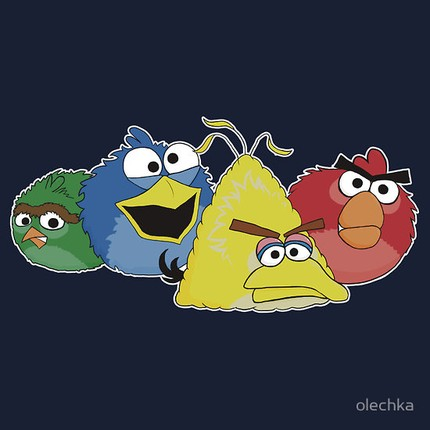 Angry Birds meets Sesame Street