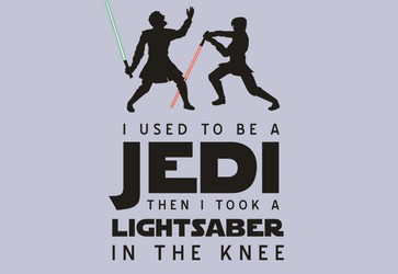 Lightsaber In The Knee